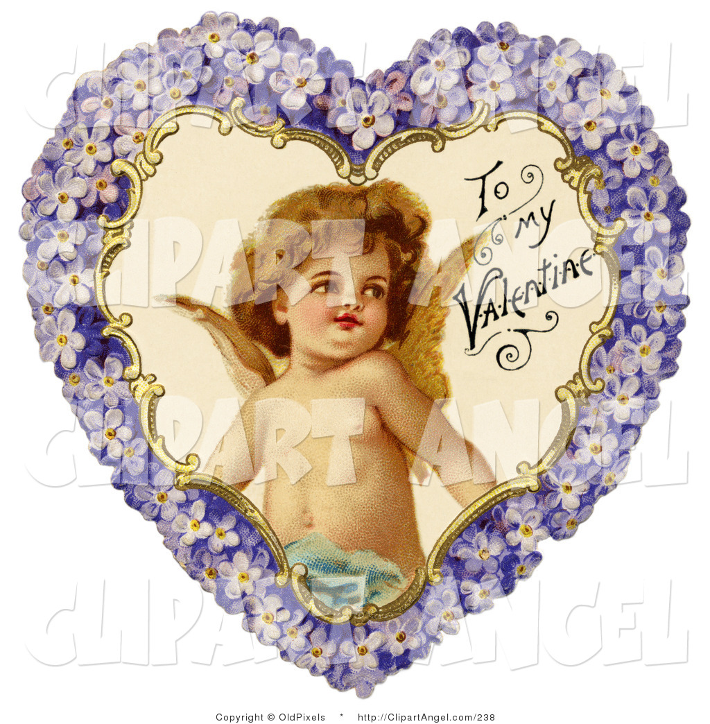 royalty free victorian valentines day stock angel designs