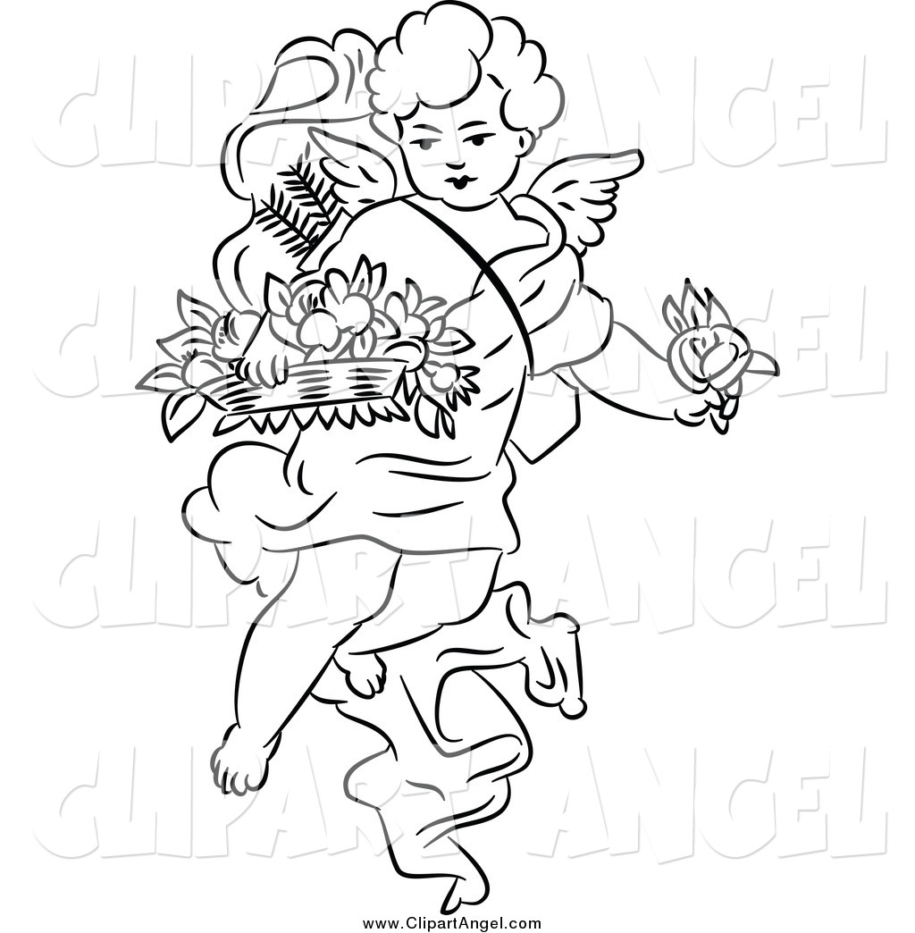 coloring pages cherubs - photo#19