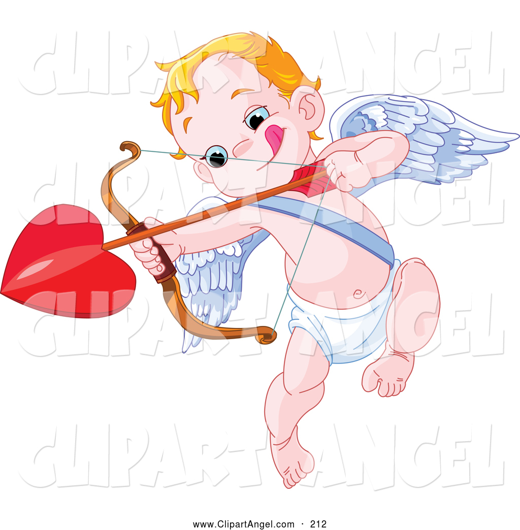 Larger Preview: Illustration Vector of an Little Cupid Biting His Lip ...