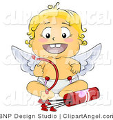 Illustration of a Baby Angel with Love Arrows by BNP Design Studio