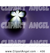 October 7th, 2012: Illustration of a Glowing Fractal Design of an Angel on Purple by ShazamImages
