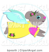 Illustration of a Mouse Angel in Flight by Bpearth