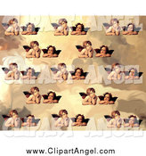 August 10th, 2014: Illustration of a Pattern of Victorian Cherubs by Prawny Vintage