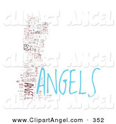 Illustration of an Angels Word Collage over White by MacX