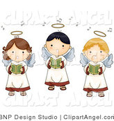 Illustration of Three Innocent Singing Angels by BNP Design Studio