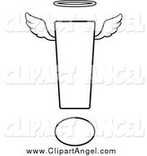 Illustration Vector Cartoon of a Black and White Angelic Exclamation Point by Cory Thoman
