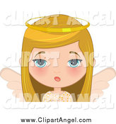 Illustration Vector Cartoon of a Bored Blond Angel Girl by Melisende Vector