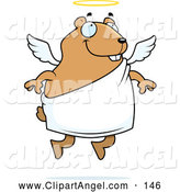 Illustration Vector Cartoon of an Cute Angel Hamster by Cory Thoman