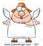 September 18th, 2013: Illustration Vector Cartoon of an Cute Red Haired Female Angel by Cory Thoman