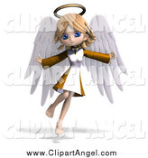 May 16th, 2015: Illustration Vector of a 3d Cute Blond White Angel Girl Flying by Ralf61