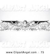 Illustration Vector of a Black and White Intricate Angel Border Design Element on White by BestVector
