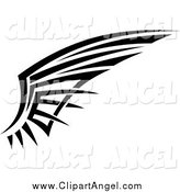 Illustration Vector of a Black and White Tribal Angel Wing by Seamartini Graphics
