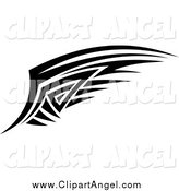 Illustration Vector of a Black and White Tribal Angel Wing by Vector Tradition SM