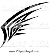 Illustration Vector of a Black and White Tribal Angel Wing Design by Vector Tradition SM