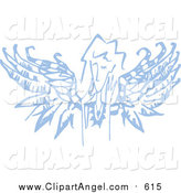 Illustration Vector of a Blue Angel Thinking by Steve Klinkel