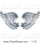 Illustration Vector of a Pair of Angel Wings by Visekart