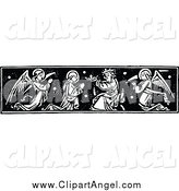 Illustration Vector of a Saint Receiving a Crown by Prawny Vintage