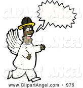 Illustration Vector of a Talking African American Angel by Lineartestpilot