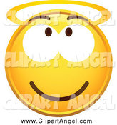 Illustration Vector of a Yellow Smiley Face with a Halo by Beboy