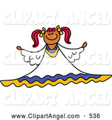 Illustration Vector of an Child's Sketch of a Peaceful Angel by Prawny