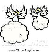Illustration Vector of Angels on Clouds by Lineartestpilot