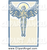 Illustration Vector of Saint Michael the Archangel with a Sword in the Sky by Xunantunich