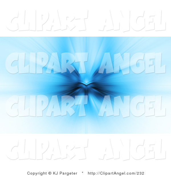 Illustration of a Burst of Light and Dark Blue Resembling an Angel, Emerging from a White Background