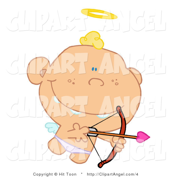 Illustration of a Cute Angel Cupid AIming