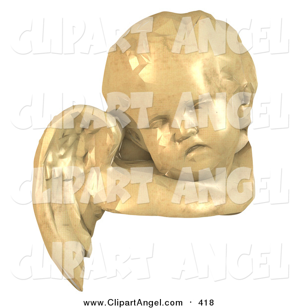 Illustration Vector of a 3d Angel Face