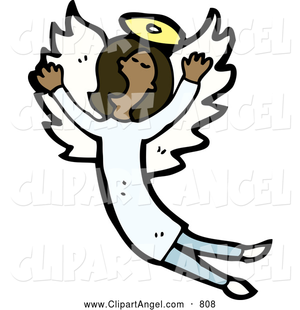 Illustration Vector of a African American Angel Singing