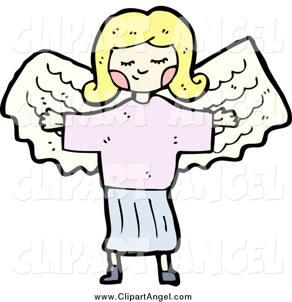 Illustration Vector of a Blond Girl Angel