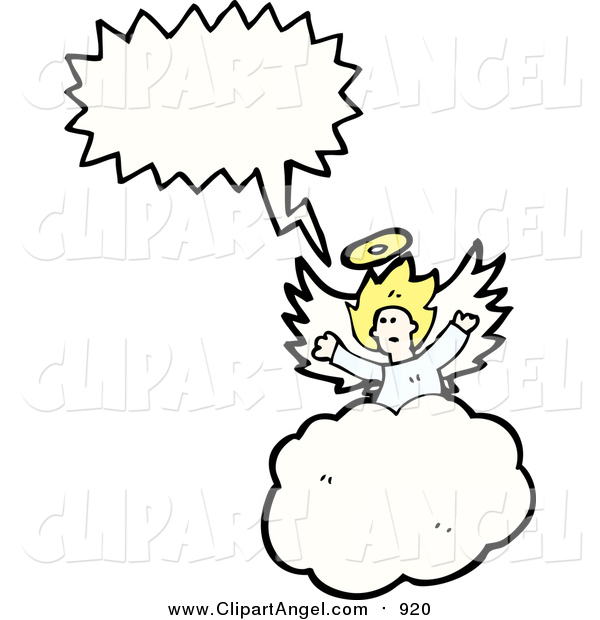 Illustration Vector of a Blond White Angel Speaking