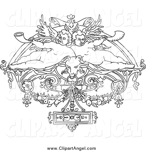 coloring pages cherubs - photo#24