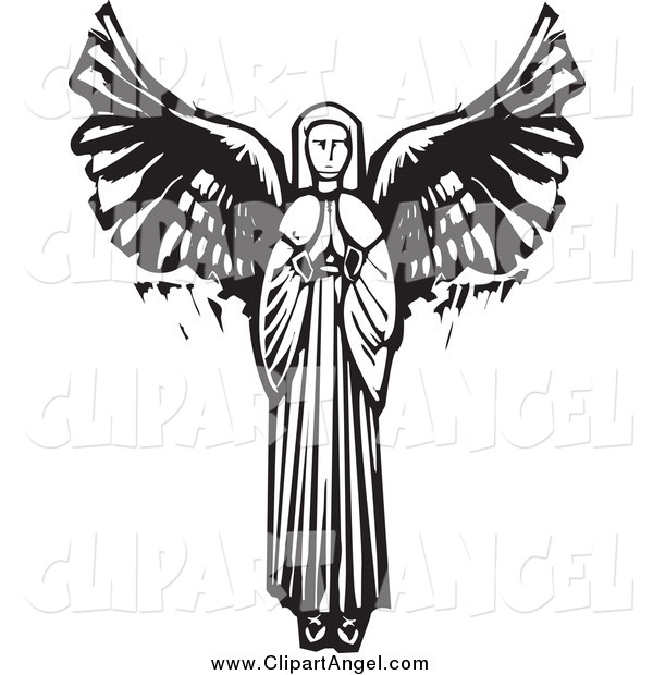 Illustration Vector of a Praying Female Angel