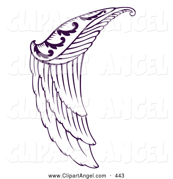 Illustration Vector of an Beautiful Purple Angel Wing