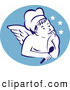 Illustration of a Retro Old Fashioned Chef Angel Logo by Patrimonio