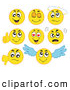 Illustration Vector Cartoon of a Digital Set of Yellow Emoticons by Visekart