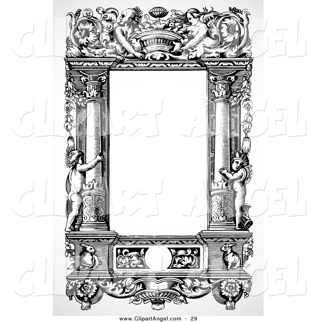 Royalty Free Stock Angel Designs of Frames